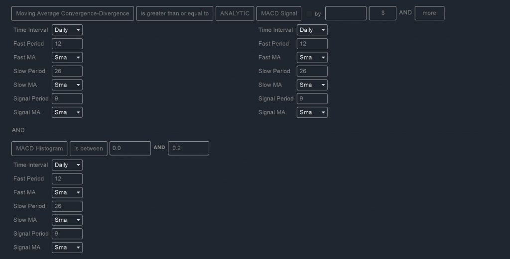 Watchlists - MACD Scan