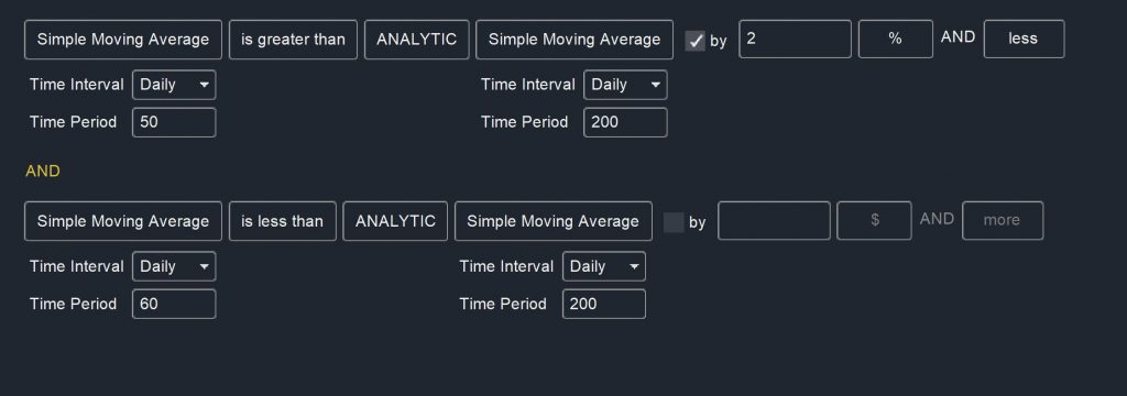 Trend Following - Moving Avg Cross Scan