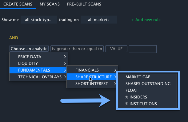 Share Structure Scanner